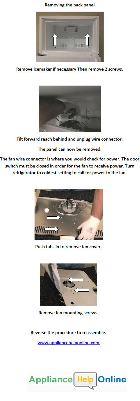 Refrigerator Evaporator Fan Replacement